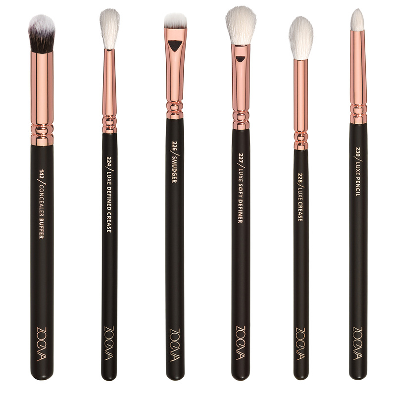 sigma pencil brush. the rose golden complete eye set by zoeva comes with 12 brushes that will be perfect when doing any look, whether simple or dramatic. sigma pencil brush